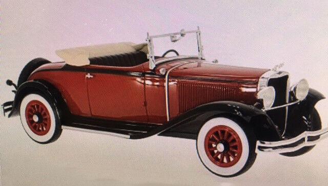 1931 Dodge Huit Dg Convertible Rouge Foncé   Noir par Bos Modèles le 504 1 18