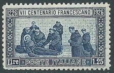 1926 REGNO S. FRANCESCO 1,25 LIRE D. 11 MNH ** - Z3