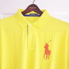 POLO RALPH LAUREN MENS SHORT SLEEVE BIG PONY POLO SHIRT NWT 2XLB BIG 2X YELLOW