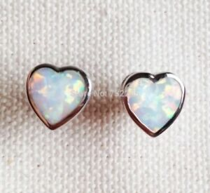 Image Is Loading Beautiful Platinum Plated White Fire Opal Heart Shaped