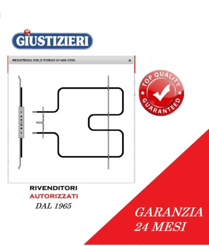 481225998472 RESISTENZA CIELO FORNO WHIRLPOOL IGNIS 1400W 230V MADE ITALY