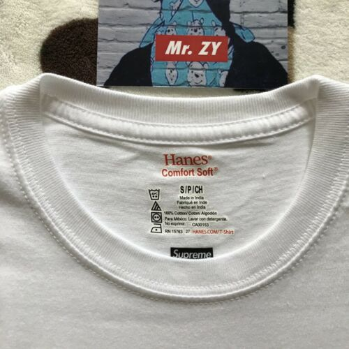 BOX LOGO BANDANA Martin Wong CDG Supreme FW19 Hanes Tagless Tee 1 T-Shirt Only
