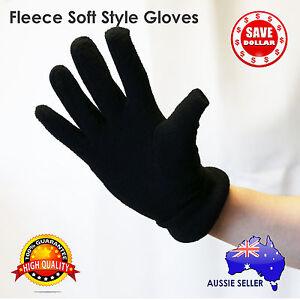 Winter-BLACK-Fleece-Unisex-Gloves-Polar-Style-Gloves-Cozy-Free-Size-Fleece