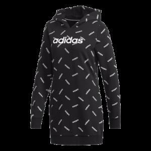 Adidas Graphic Hoodie Damen Kapuzensweat DW8020 kurzes Kleid Sweatshirt