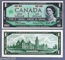 Canada $1 1867-1967 No Serial Number (UNC)