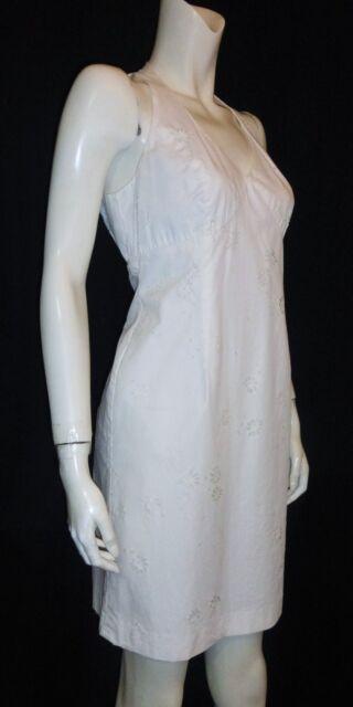 EVAN PICONE Dress Petite White Sleeveless Eyelet Sundress Size10P