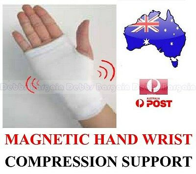 MAGNETIC HAND PALM WRIST SUPPORT STRETCH COTTON COMPRESSION SUPPORT BAND GLOVE