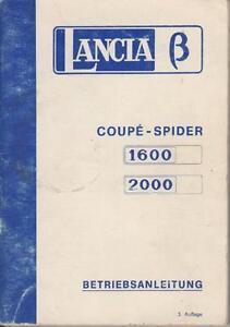 LANCIA-828-BETA-COUPE-SPIDER-1600-2000-Betriebsanleitung-1976-BA