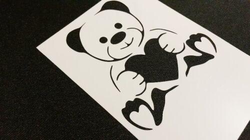 Valentine/'s Heart Bear Stencil Craft Card Windows Cake Wedding Decoration Paint