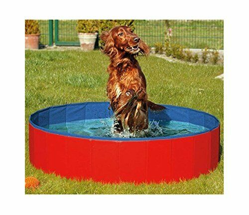 Dog pool Swimming Pet Pool Large 50 Inch Portable Foldable Bathing Tup Red NEW
