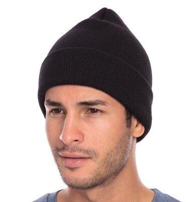 1 Dozen Decky Beanies Cuffed Knit Ski Skull Caps Hats Snug Warm Winter Unisex