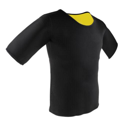 1 Stück Herren Atmungsaktives Kurze Ärmel Abnehmen Tshirt Neopren Shapewear
