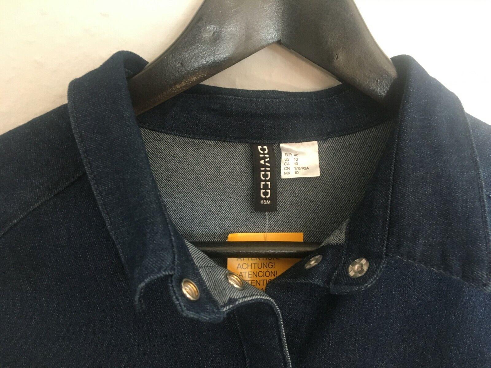 H&M Denim Blau Blau Blau Dress Größe 40 | Verschiedene Arten Und Die Styles  | Hohe Sicherheit  | Angenehmes Gefühl  22823e