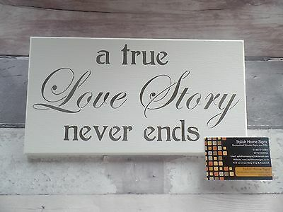 SALE ITEM-TRUE-LOVE STORY-FOREVER-HAPPY-LOVE-MARRIAGE-COUPLE--HOUSE--WOOD-SIGN-