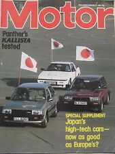 Motor magazine 19/2/1983 featuring Panther Kallista 2.8 road test, Datsun 240Z
