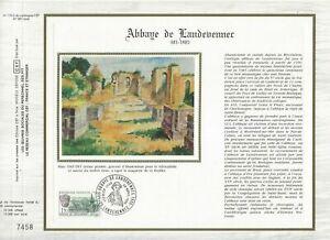 Foglio-CEF-1er-Giorno-Sul-Seta-Francia-Abbey-Di-Landevennec-1985