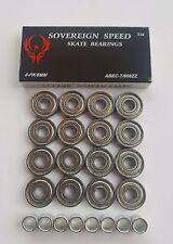 16 Pack Abec-7 Skate Bearings + Spacers long board inline rollerblade hockey 8mm