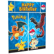 POKEMON Pikachu & Friends Children's Party Scene Setter Wall Decorating Kit
