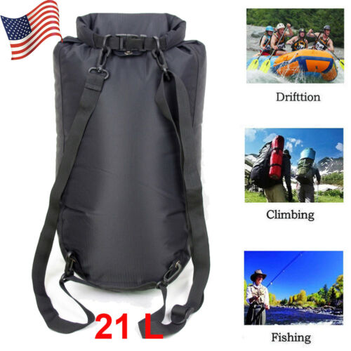 21L Waterproof Dry Bag for Canoe Swimming Camping Hiking Backpack Pouch in US
