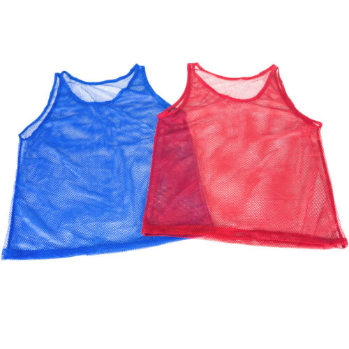 Pinnies Youth Practice Team Jerseys Mesh Scrimmage Training Vest Red Blue Lot