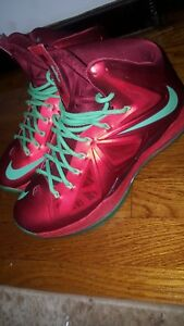 best sneakers 4d67a 23ffd Image is loading NIKE-LEBRON-X-10-034-CHRISTMAS-XMAS-034-