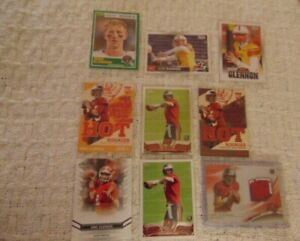 Mike Glennon Lot of 9 Different Rookie Cards 2013 Platinum Rookie Relic Jersey