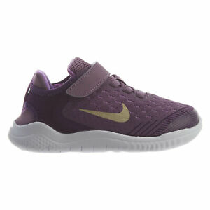 huge discount cbb7b 17f8d Details about Nike Free RN 2018 Little Kids AH3455-500 Night Purple Gold  Shoes Youth Size 3