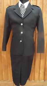 NEW-GENUINE-WPC-Police-Woman-black-full-uniform-Jacket-amp-skirt-siz-12-70s-80s