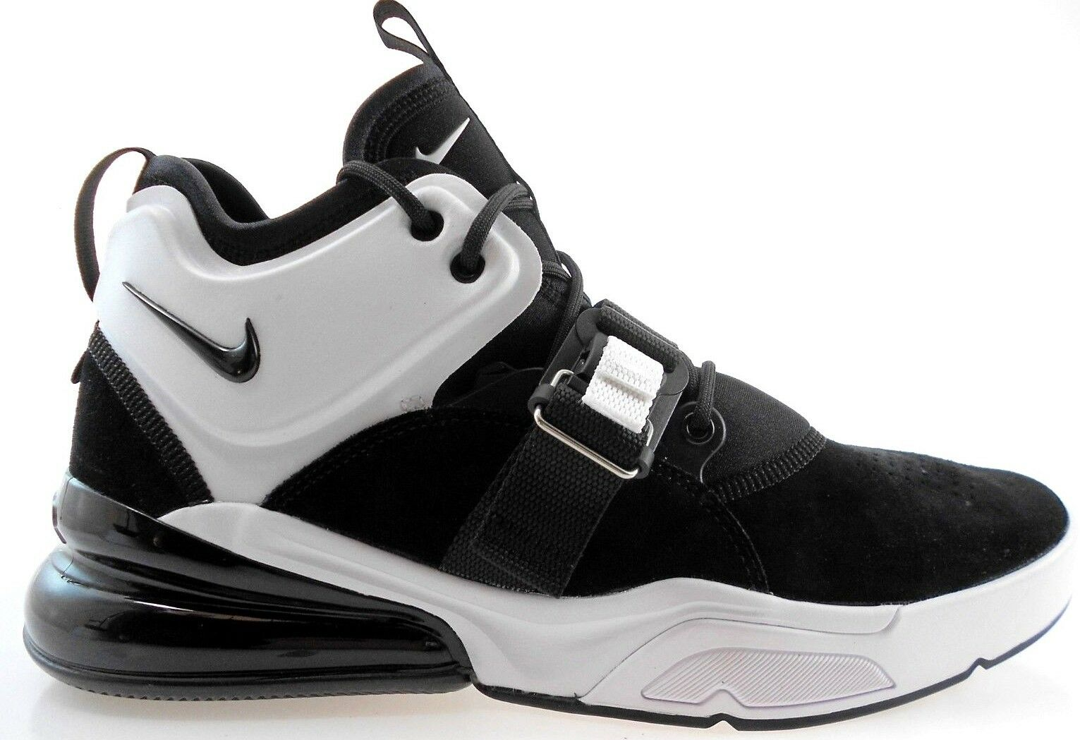 NIKE AIR FORCE 270 MEN'S BLACK WHITE BASKETBALL SHOES, AH6772-006