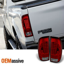 Fits 97 03 F150 F250 Pickup 99 07 Ford Superduty Red Clear Led Tail Lights Lamps Fits 1997 Ford F 150