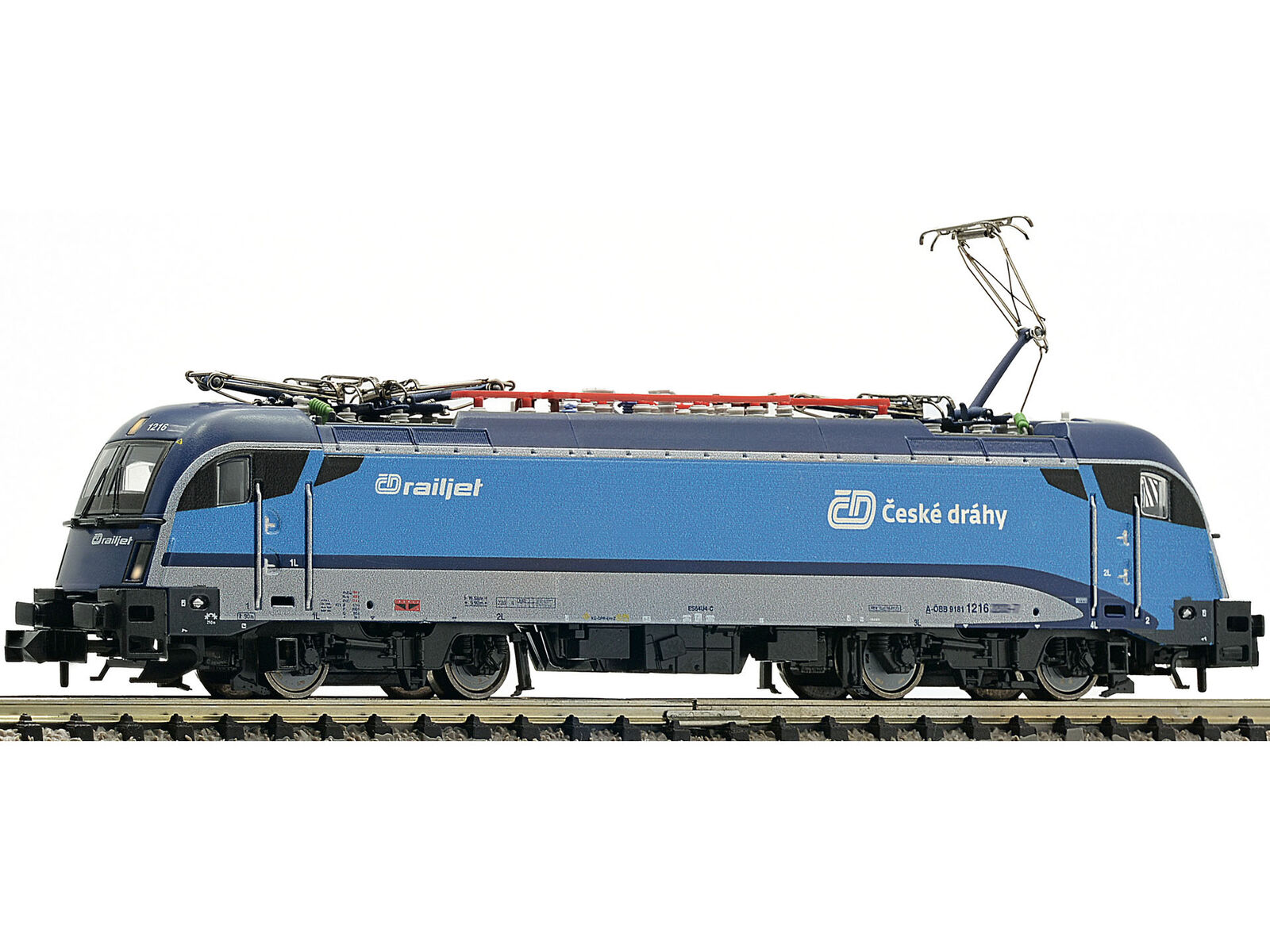 Fleischmann 781873-DCC + Sound Elektrolok BR 1216 Railjet CD EP. vi-Spur N
