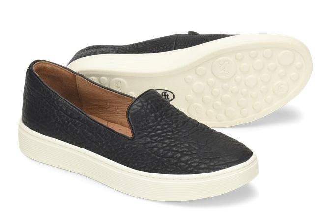 NIB Soft Wouomo Somers Leather Slip On Fashion scarpe  da ginnastica in nero  divertiti con uno sconto del 30-50%