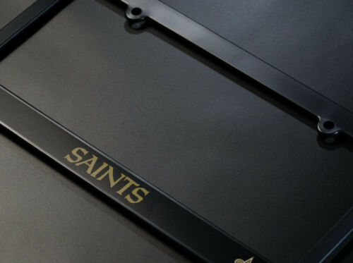 2 NEW ORLEANS SAINTS License Plate Frames Matte Black car football accessory