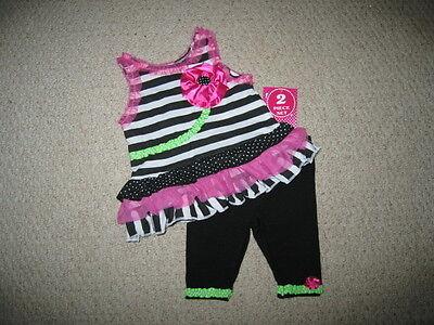 "NEW /""CORAL ZEBRA/"" Capri Pants Girls Clothes 3T Spring Summer Boutique Toddler"