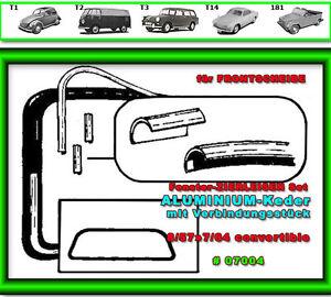 VW-Kaefer-Cabrio-Scheibengummi-Zierleisten-Chrom-fuer-13-1500-1302-ab-8-64-7005