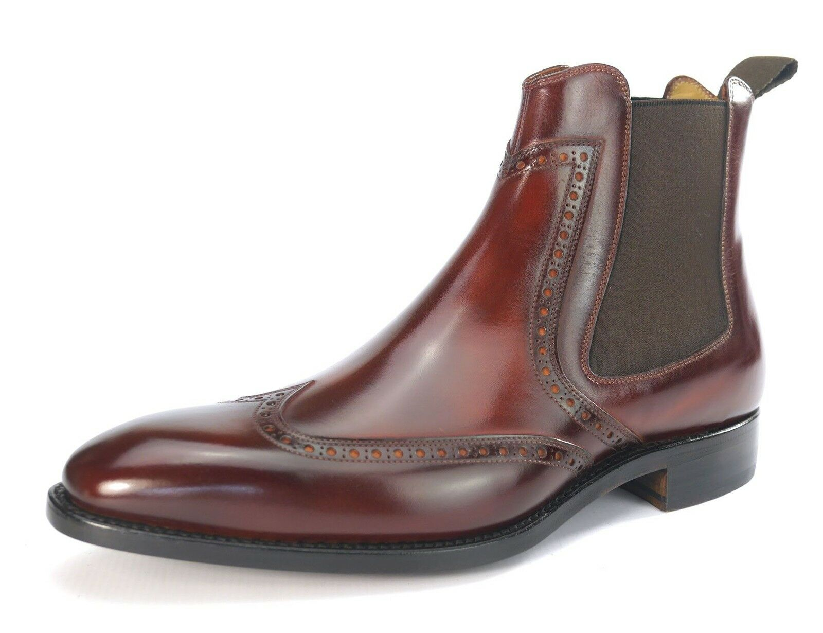 Carlos Santos All Leather Welted Handmade Mens Pull On Boots 7004