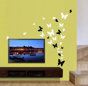 Up-to-53-Butterfly-Bedroom-Bathroom-Kitchen-Wall-Art-Stickers-Kids-Decals-4Sizes