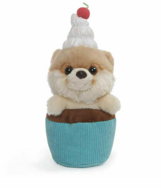 "5/"" Gund Itty Bitty Boo Pizza Stuffed Dog Plush #57"