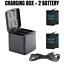 thumbnail 15 - TELESIN Battery Charger Case For GoPro Hero 8 7 6 5 Black Charging& Storage Box