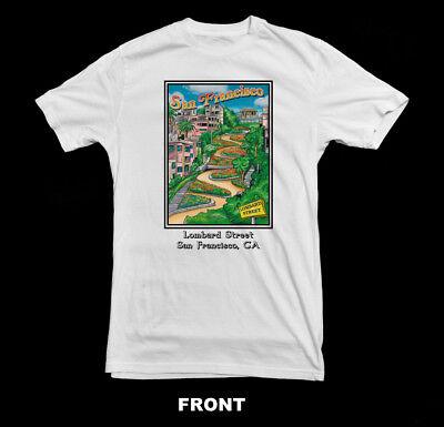 Lombard Street San Francisco T ShirtSan Francisco Souvenir T-Shirt
