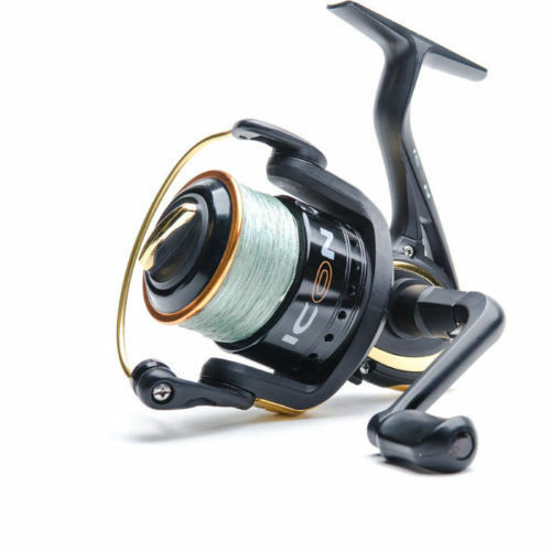 LEEDA ICON SPIN 3000 WITH 20 Lb BRAID SEA   COURSE FISHING REEL