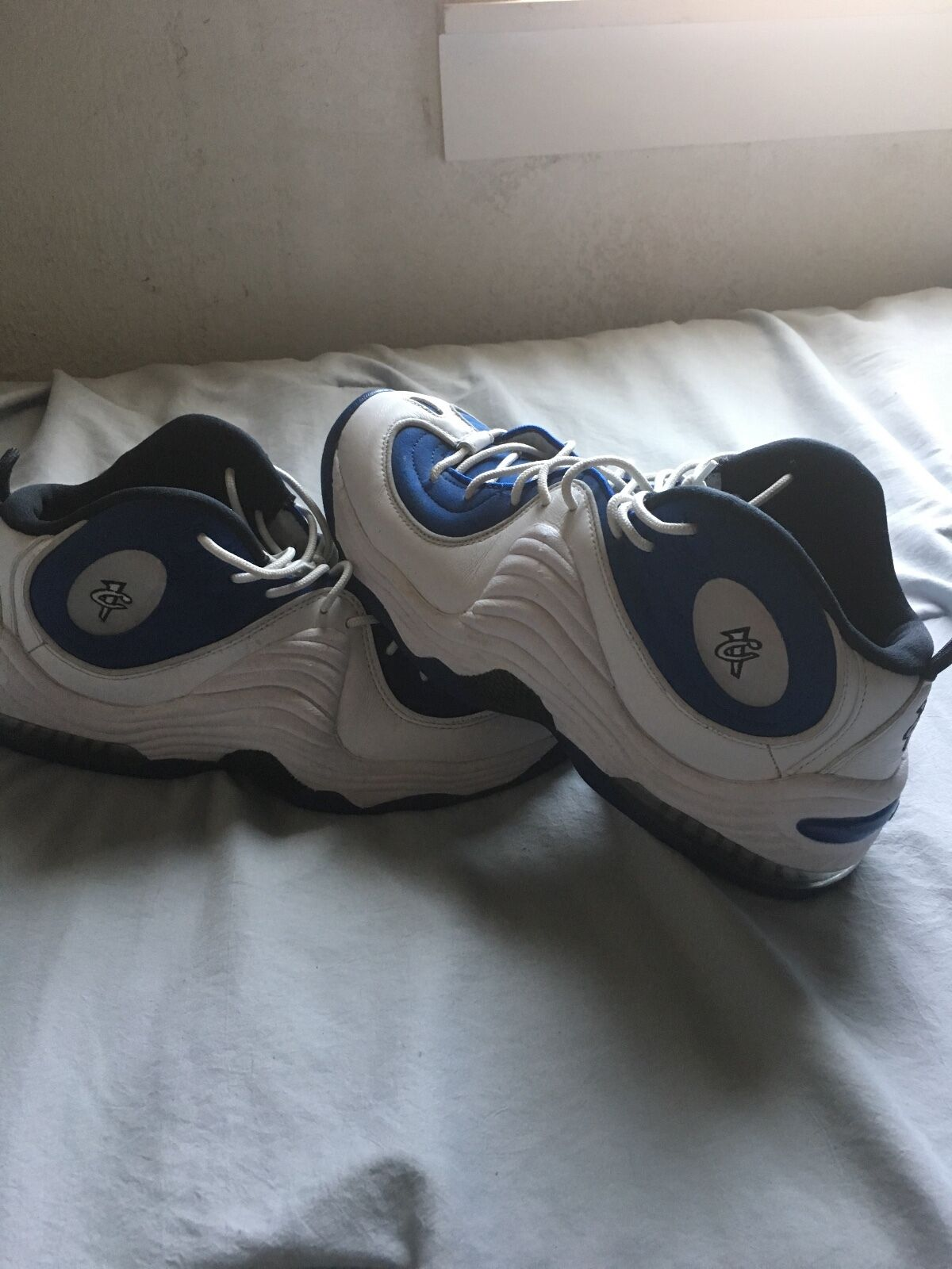 NIKE-AIRPENNY 2 (White/blue/3M)  Cheap and fashionable