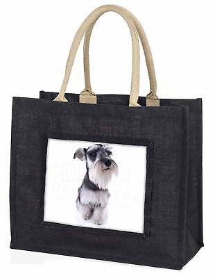 schnauzer-hund große schwarze Einkaufstasche Weihnachten Geschenkidee, ad-s67blb