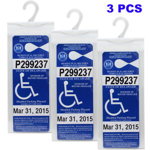 Handicap-Placard-Holder-Car-Parking-Sign-Permit-Protector-Hanger-Cover-Sleeve