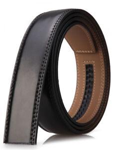 Cinturón automático de cuero genuino para hombres sin hebilla de ancho 3.5 cm