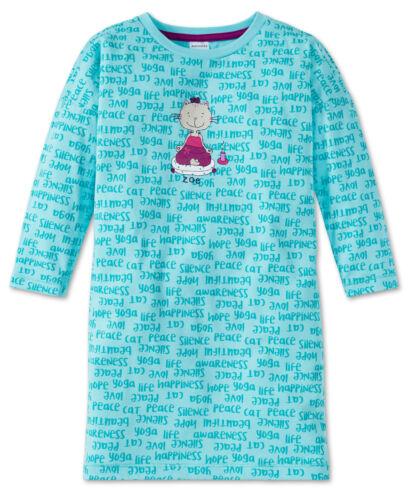 Sale SCHIESSER Mädchen Schlafanzug Pyjama Sleepshirt Nachthemd Cat Zoe NEU Sale