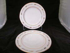 """Grano by Empress China Japan 2 Dinner Plates 10-3/8"""" Wheat Design Gold Trim 1813"""