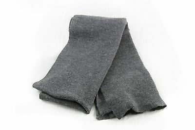SCARF. GERMAN MILITARY GRAY WOOL SCARF 1977-1989 (Punk, New Wave, 80s), Vintage.