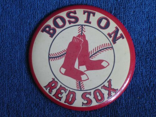 "1940s1950s Boston Red Sox MLB Baseball Large 3.5"" Celluloid Pinback Button"