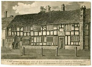 Shakespeare-039-s-House-Engraving-Realised-IN-1898-By-J-Basire-IN-1808